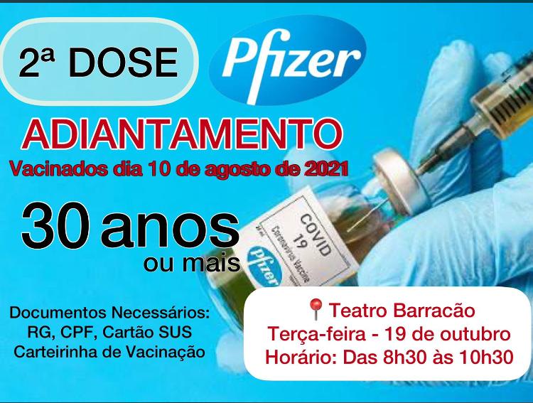 Vacina��o da 2�  dose. (adiantamento)