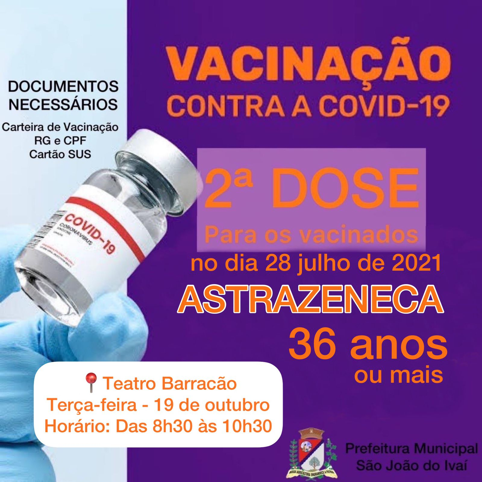 Vacina��o da 2�  dose.