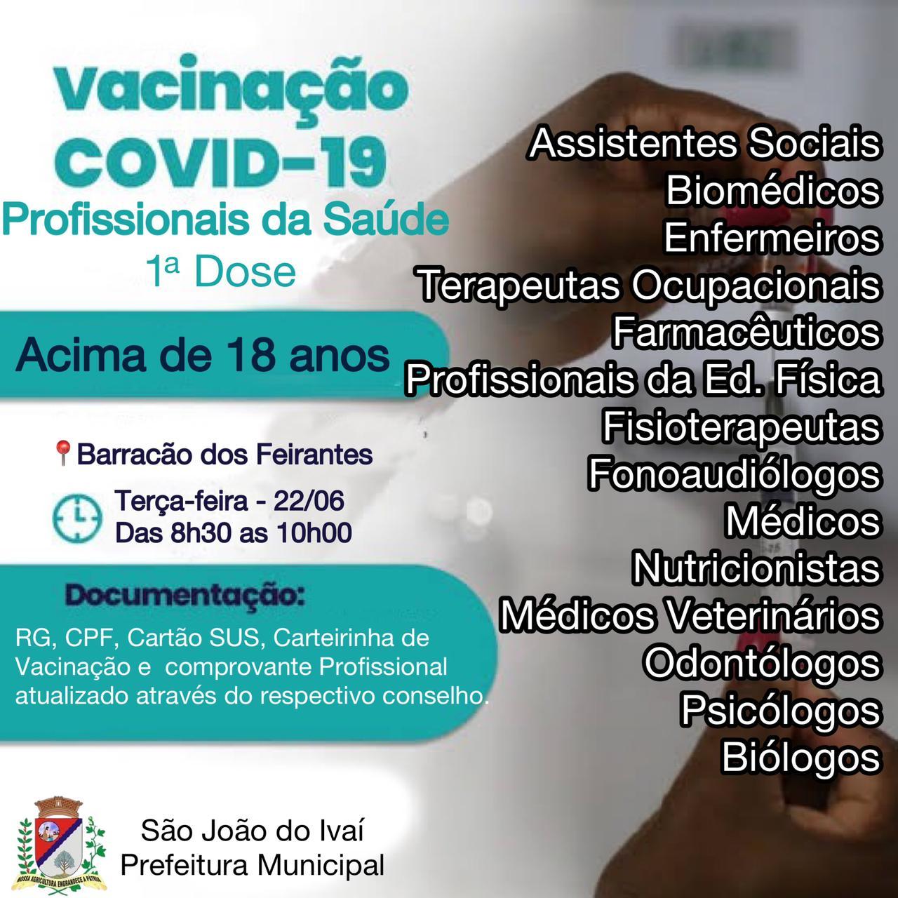 vacina��o profissionais